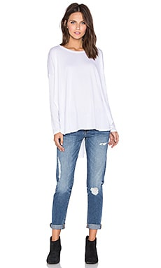 Knot Sisters Taylor Tee in Blanco White