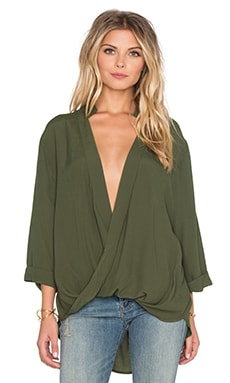 Luna Blouse in Olive