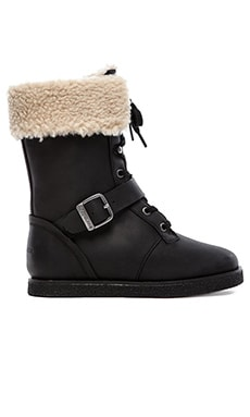 Koolaburra Jovi Boot with Fur in Black