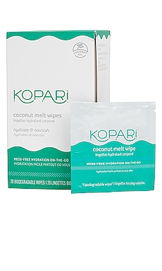 Coconut Melt Wipes Kopari $20