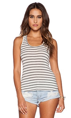 Koral Hi Lo Racerback Tank in Grey Stripes