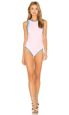 KORE SWIM Hera Cameo One Piece in Pink & Mint & Water Blue