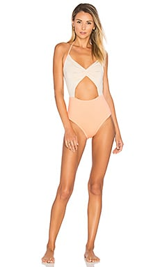 Flora One Piece in Coral