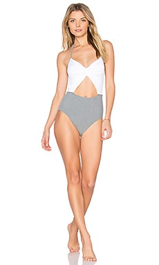 Flora One Piece in Static Gray