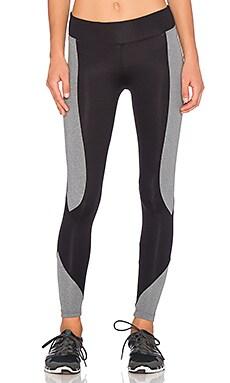 koral activewear Makoto Curve Crop Legging in Heather Grey & Black