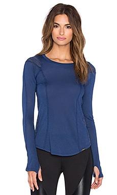 koral activewear Swerve Henley Tee in Steel Blue