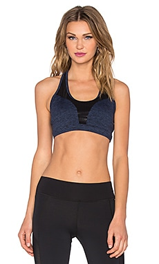 koral activewear Void Sports Bra in Navy & Black