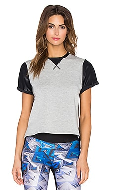 koral activewear Boyfriend Tee in Heather Grey