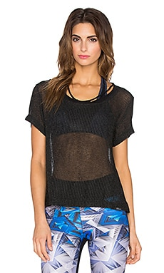 koral activewear Latch Top in Black
