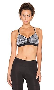 koral activewear Lattice Versatility Sports Bra in Black & White