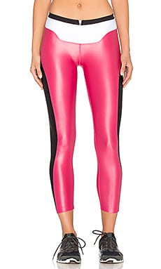 koral activewear Contour Crop Legging in Carmine & Black