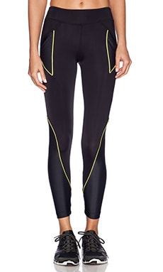 koral activewear Rivalry Crop Legging in Geo & Black