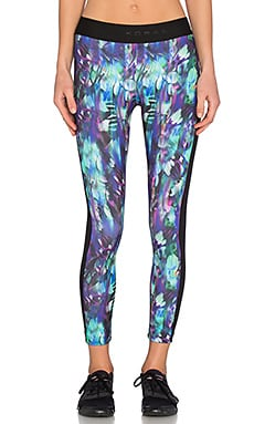 KORAL Compass Cropped Legging in Poly Chrome & Black