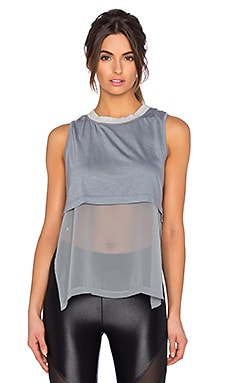 KORAL Lucid Double Layer Top in Sage