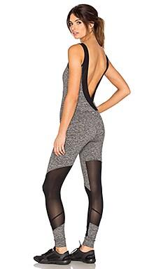 KORAL Vector Jumpsuit in Heather Grey & Black
