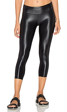 Lustrous Capri Legging in Black