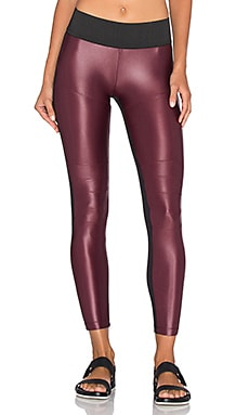 Moto Legging in Wine & Black