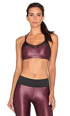 KORAL Breaker Versatility Bra in Wine & Black