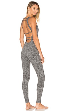 Jet Jumpsuit in Heather Grey & Black