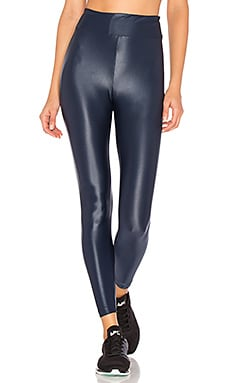 Lustrous High Rise Legging in Midnight Blue