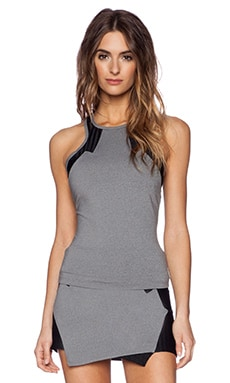 koral activewear Onyx Tank in Heather Grey & Black