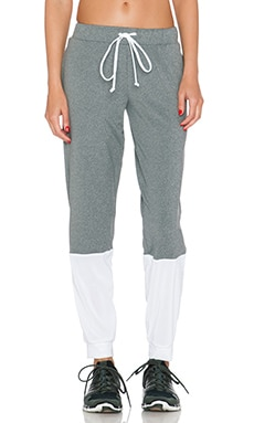 koral activewear Immersion Sweatpant in Heather Grey & White