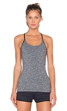 koral activewear Core Paradox Tank in Heather Grey & Black