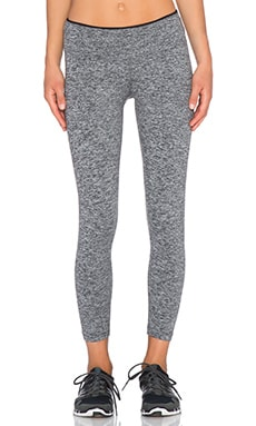 koral activewear Core Mystic Capri Legging in Heather Grey & Black