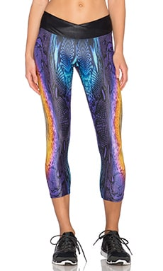 koral activewear Sunburst Endurance Capri Legging in Sunburst & Black