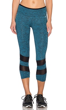 koral activewear Pantanal Acme Crop Legging in Cerulean & Black