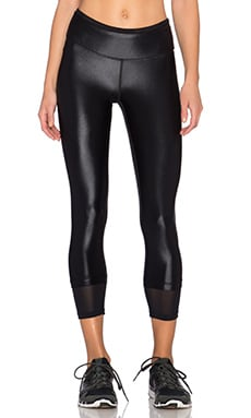 koral activewear Sky Scraper Echo Crop Legging in Black