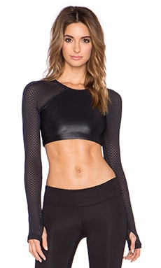 koral activewear Seychelles Levitate Crop Top in Black