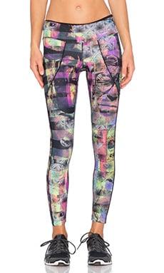 koral activewear Calibrate Crop Legging in Shashiko & Black