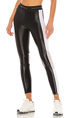 Emblem High Rise Cropped Legging KORAL $110