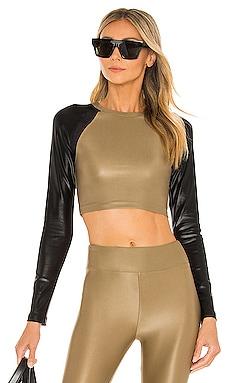 Sideline Infinity Long Sleeve Crop Top KORAL $125