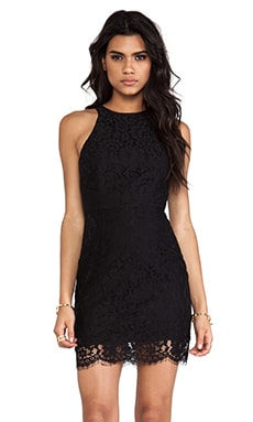 keepsake Almost Over Dress in Black Lace