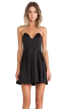 keepsake Stolen Hearts Mini Dress in Black