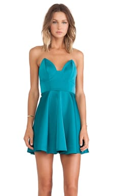 keepsake Stolen Hearts Mini Dress in Emerald