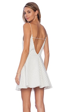 keepsake Same Love Mini Dress in Ivory Small Diamond