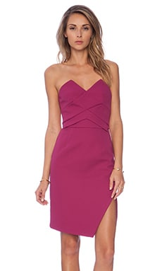 keepsake Holding Back Dress in Boysenberry