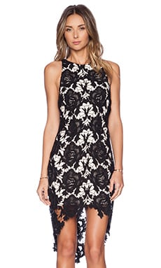 I Will Wait Dress in Black Lace