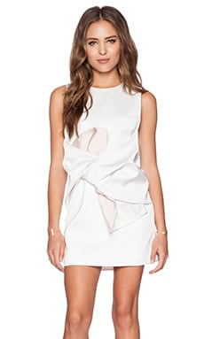 keepsake Superhuman Dress in Ivory & Shell