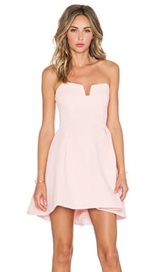 Divide Mini Dress in Blush