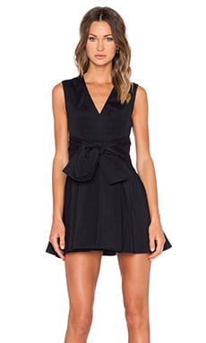 keepsake High Tide Mini Dress in Black