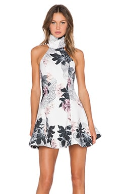 keepsake Run Around Dress in Ivory Layered Floral