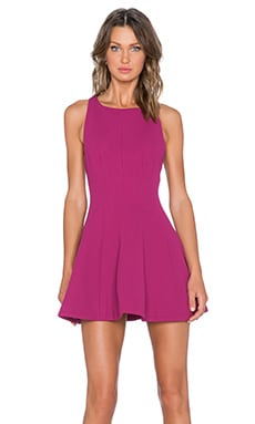 keepsake Straight Talker Dress in Boysenberry