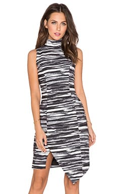 keepsake Subtract Dress in Painted Stripe