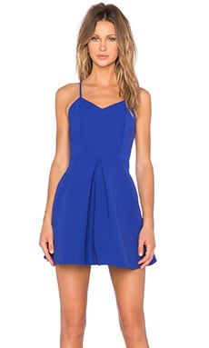 Twisted Fiction Mini Dress in Cobalt