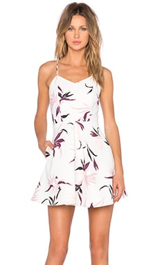 keepsake Twisted Fiction Mini Dress in Light Bird of Paradise