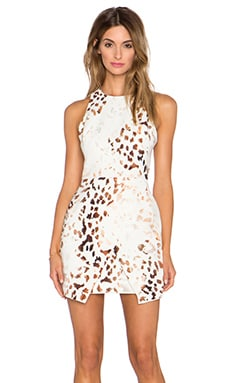 keepsake Such Great Heights Dress in Marbled Animal